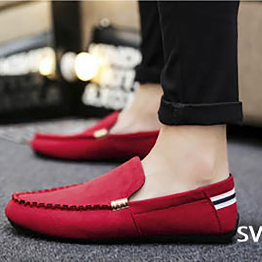 Giày Lười Nam Phong Cách Hàn Quốc Phong Cách - Màu Đỏ SV06-S39