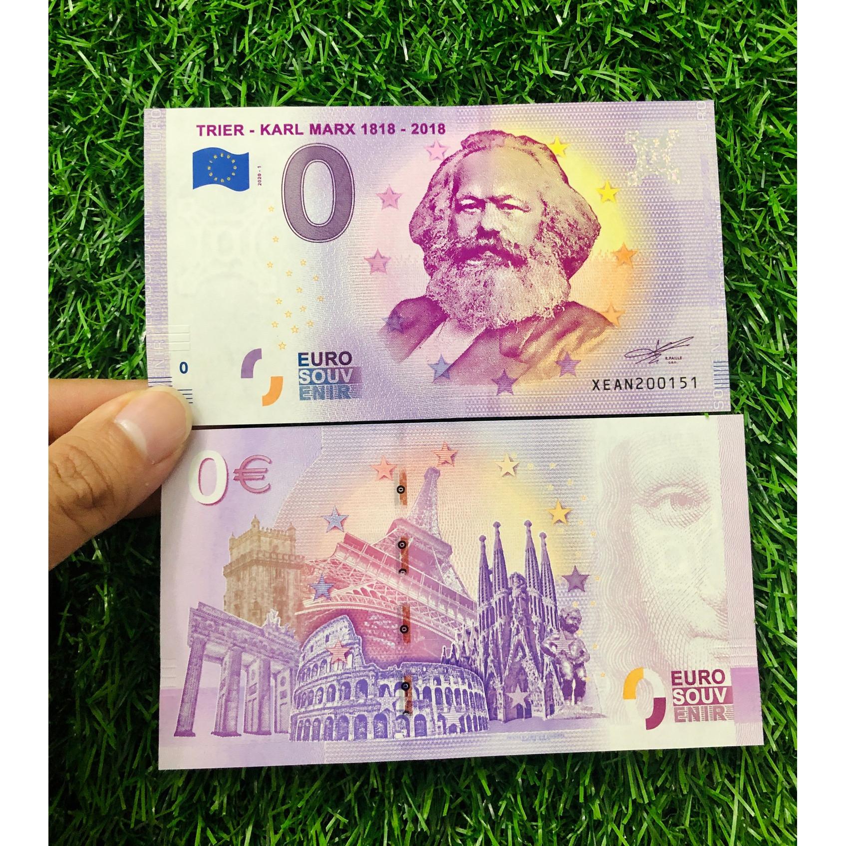 Tờ tiền lưu niệm 0 Euro có hình Karl Marx độc đáo - The Merrick Mint