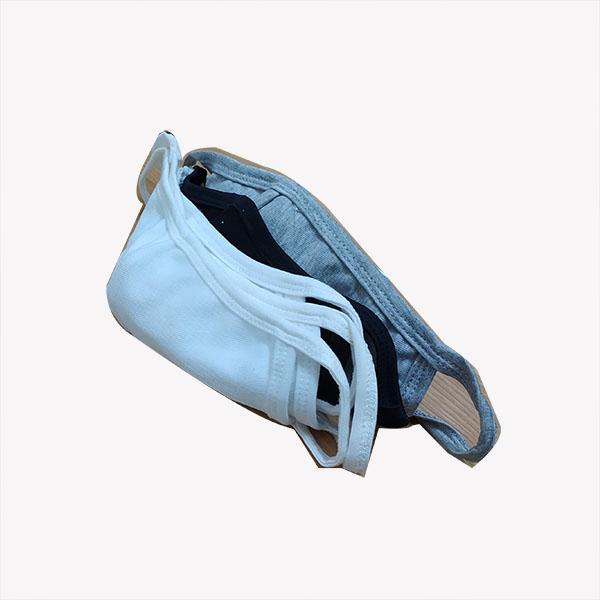 Combo 5 khẩu trang 2 lớp, vải cotton dày, thiết kế thời trang, sử dụng được nhiều lần