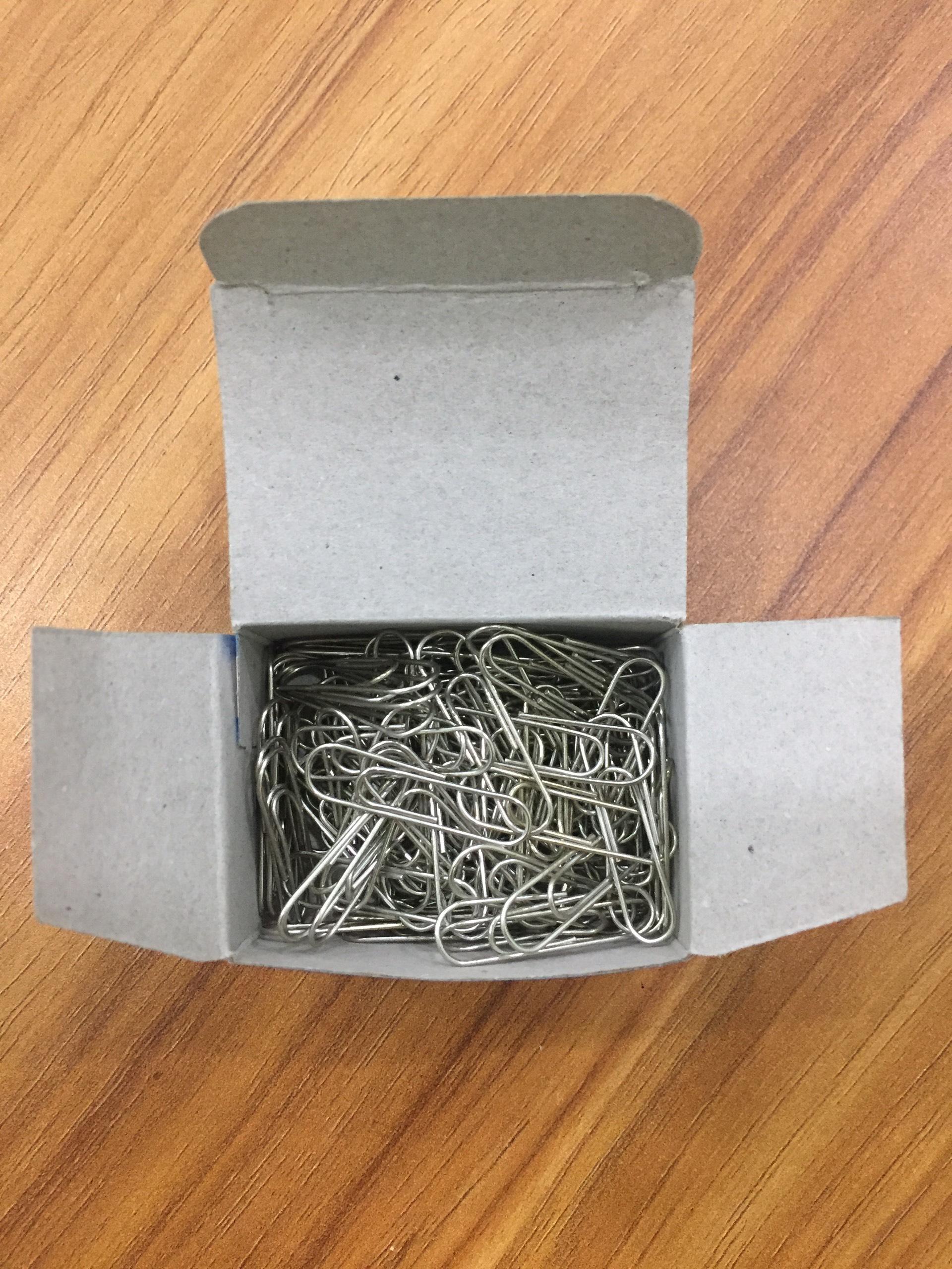Combo 10 hộp nhỏ Kẹp giấy đầu tròn C32