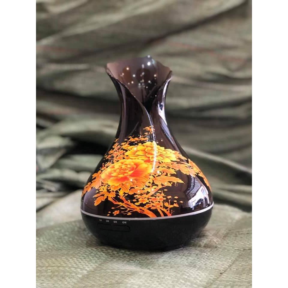 Máy Xông Khuếch tán tinh dầu hình bình hoa