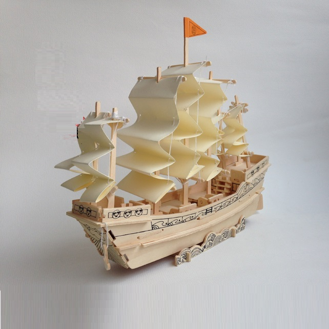 Đồ chơi lắp ráp gỗ 3D Mô hình Thuyền Nhà Minh