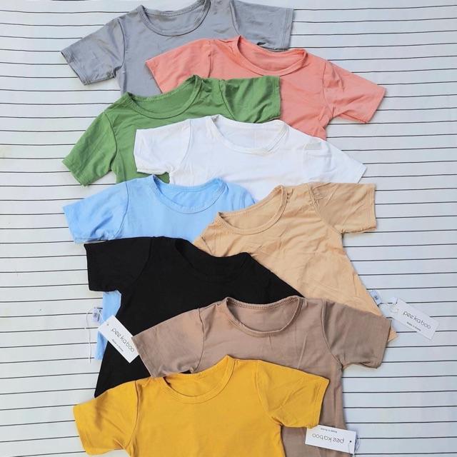 Áo cộc tay cotton thun lạnh mềm mịn cho bé từ 5kg-18kg