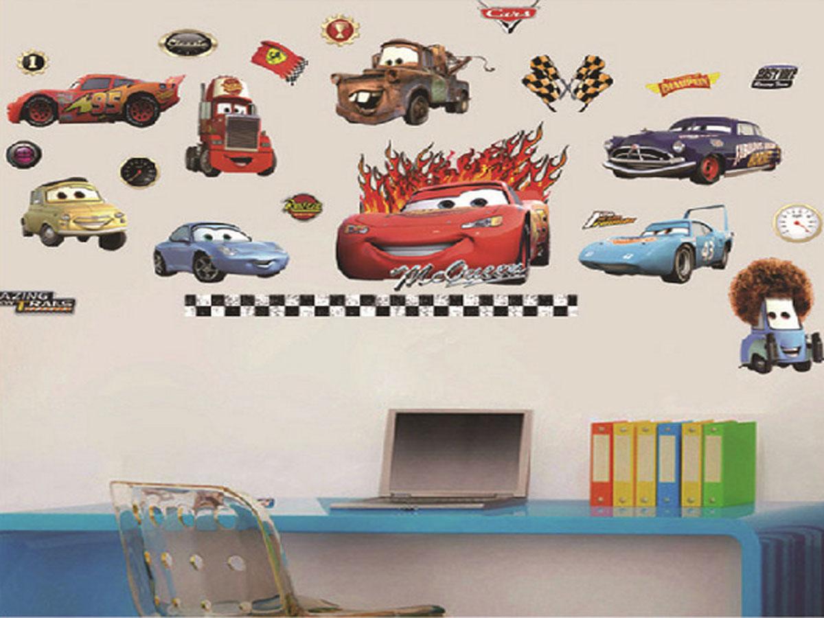 decal dán tường siêu xe tia chớp macqueen