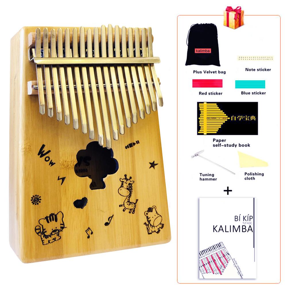 Đàn Kalimba 17 Phím Gỗ Mahogany - KALIMBA-ZOO