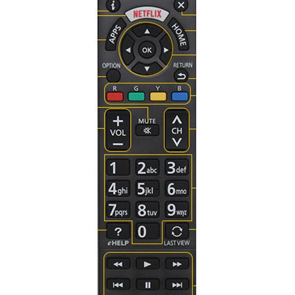 Điều khiển tivi panasonic smart 2018 - hàng chính hãng