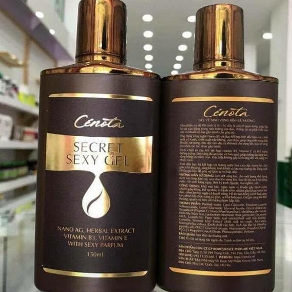 Dung dịch vệ sinh phụ nữ Cenota Secret Sexy 150ml Chính Hãng Date mới