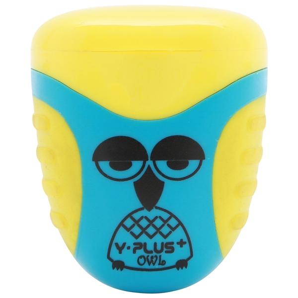 Bộ 2 Chuốt Bút Chì 2 Lỗ Owl Y-PLUS+ - SX1001_OWL - Mẫu 1 - Nắp Màu Vàng