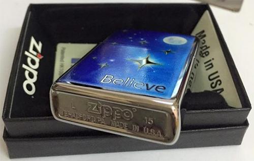 Bật Lửa Zippo 29071 - Stars Polished Chrome