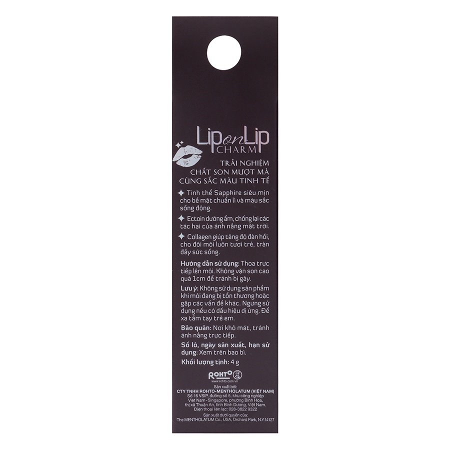 Son Lì Collagen Siêu Mịn Lip On Lip Charm (4g)