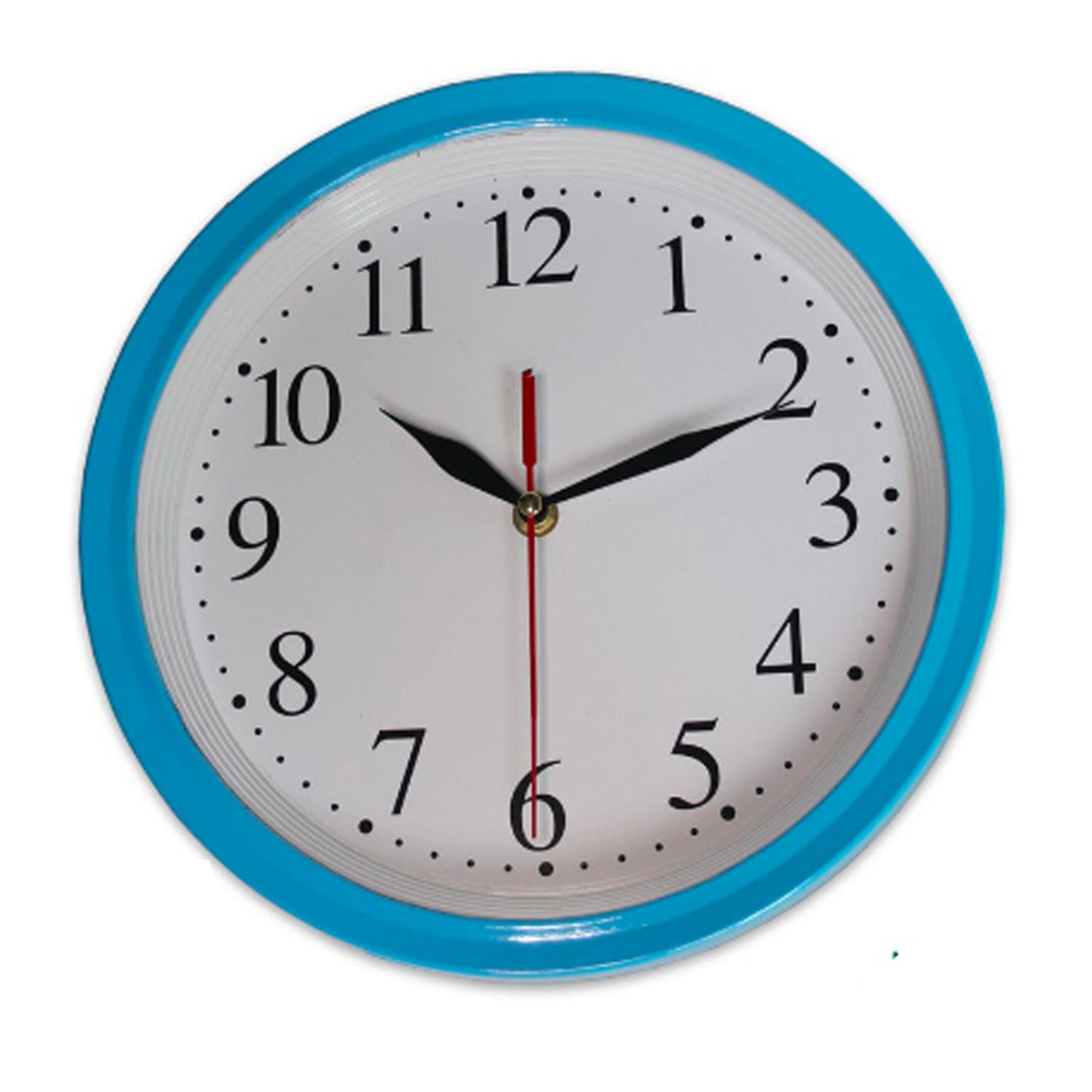 Đồng hồ treo tường mặt tròn nền trắng kim giật - NDHQL-HD16-Ho