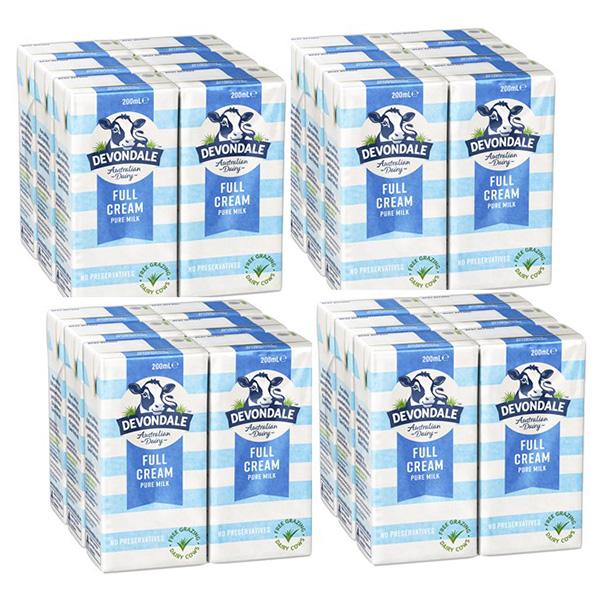 Thùng 4 Lốc Sữa Nguyên Kem Devondale Fullcream 4 x 6 x 200Ml