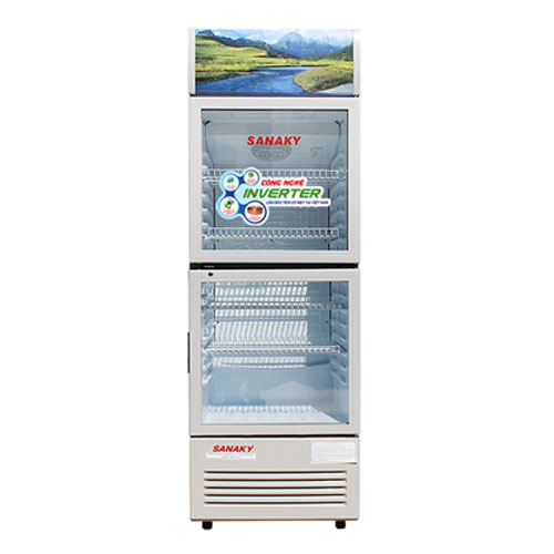 TỦ MÁT 2 CỬA SANAKY INVERTER 200 LÍT VH-258W3L NHÔM (LOW-E) (R600A) - hàng chính hãng