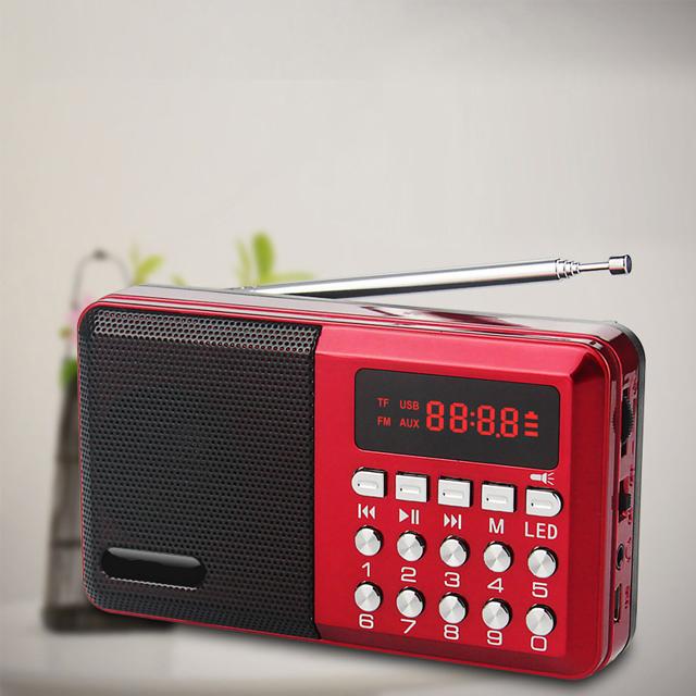 Loa Nghe Nhạc Mini Kiêm Đài Radio FM KK59 Hỗ Trợ Thẻ Nhớ, Jack 3.5 Thiếtb Kế Nhỏ Gọn Tiện Lợi