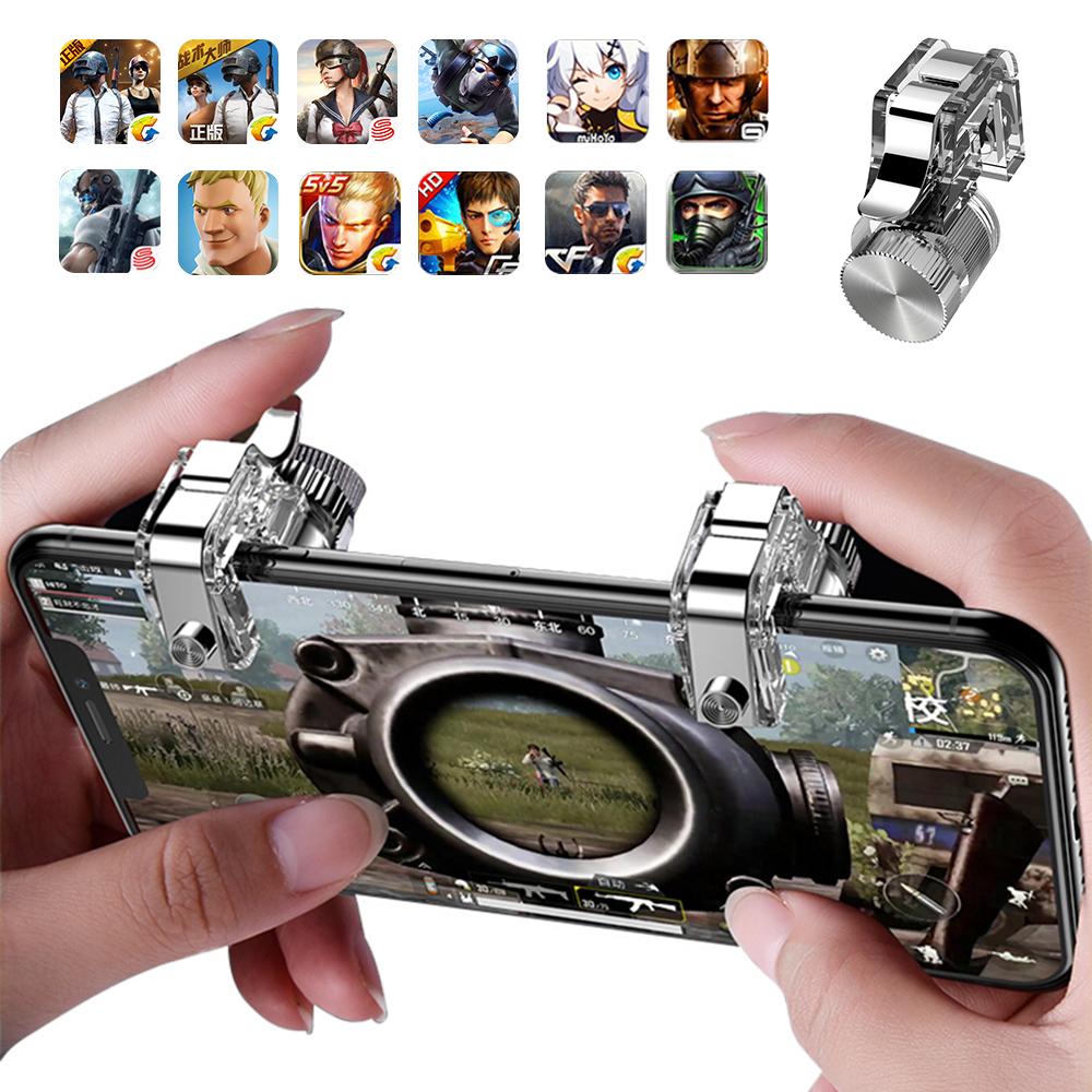 Bộ gamepad nút hỗ trợ chơi game PUBG Super Turbo RH11 cho điện thoại máy tính bảng (Màu ngẫu nhiên) - Hàng nhập khẩu