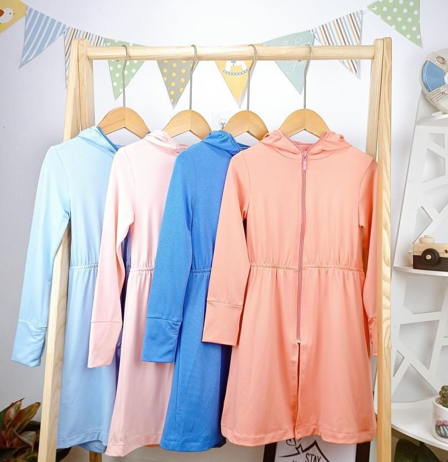 Áo choàng nắng thông hơi cho bé, giúp các bé thoải mái, chống tia UV
