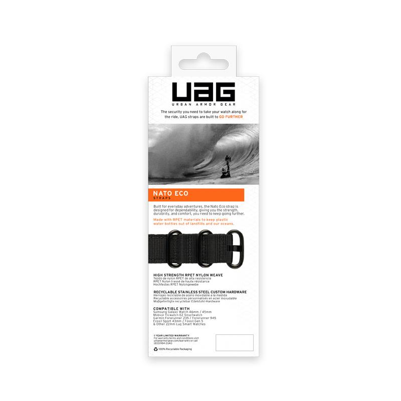 Dây đeo cho Apple Watch 40/38mm UAG NATO Eco Series  - Hàng Chính Hãng