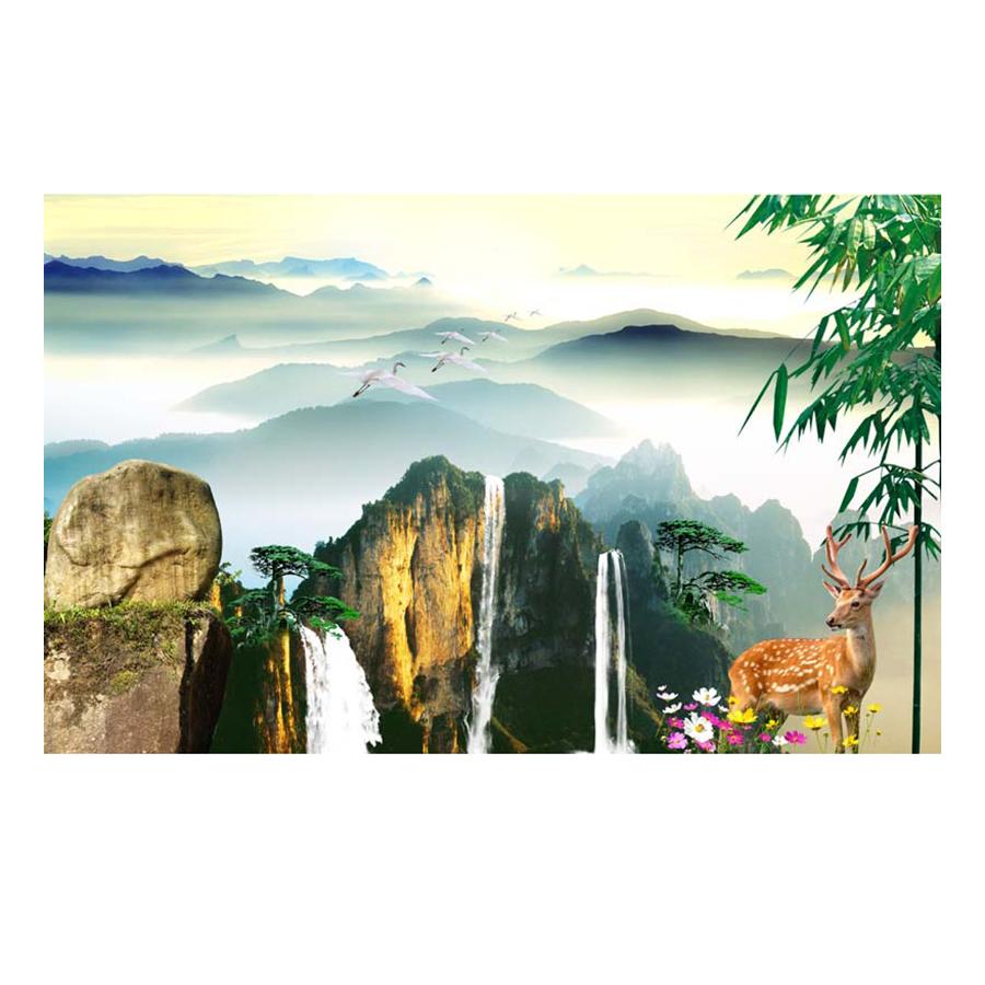 Tranh Dán Tường Sơn Thủy 3D ST057
