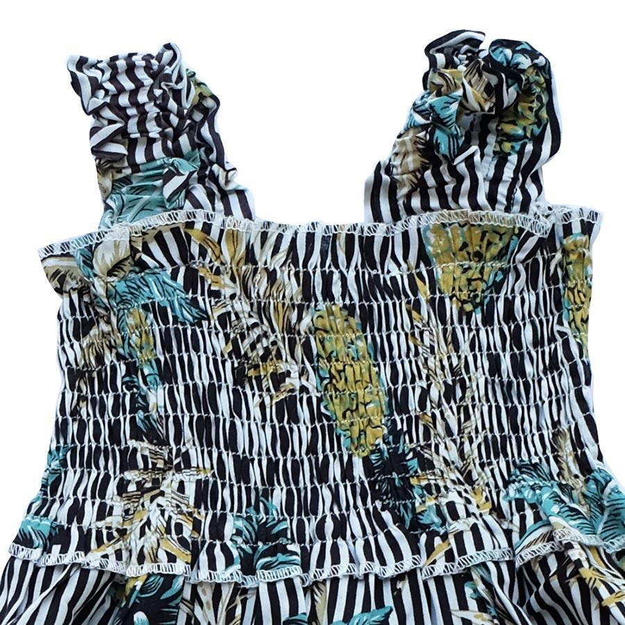 Đầm Hai Dây Nhún Vai Thun Ngực Cuckeo Kids T81821