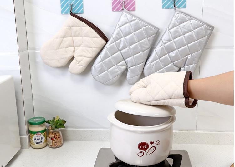 Combo 2bao tay vải bạc dày 2 lớp nhấc bếp, nhấc nồi, chống trượt, cách nhiệt cao chống nóng, tránh bỏng an toàn từ lò vi sóng,lò nướng GD452-BTay-2Bac