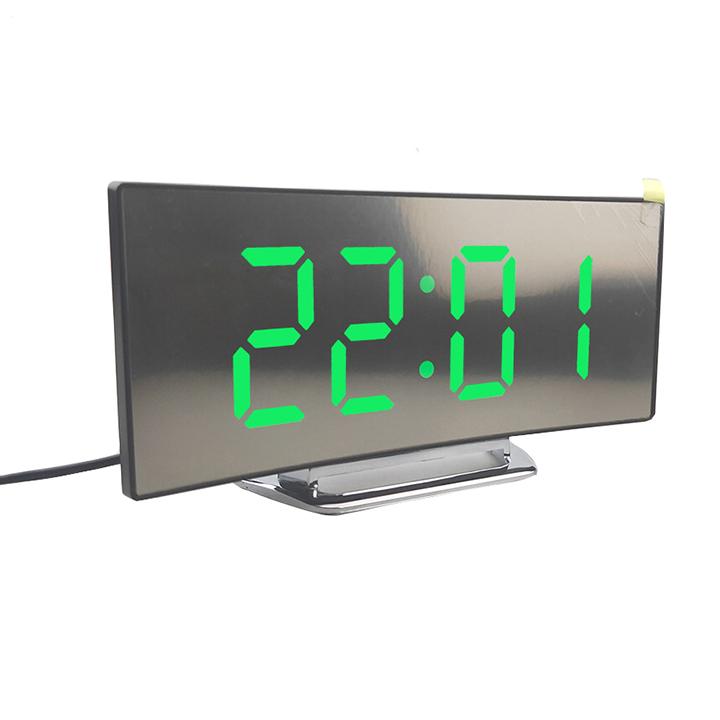 Đồng hồ LED báo thức màn hình LCD Miror Clock DT6507