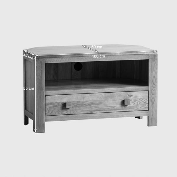 Tủ TV Góc Oakdale Gỗ Sồi Ibie LVCDALO (100 x 50 cm)