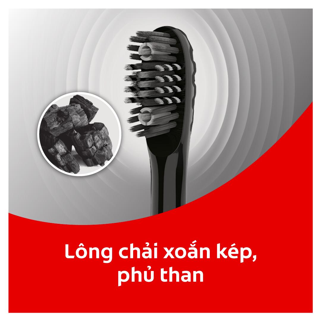 Bàn chải điện Colgate Sonic 360 Charcoal với lông chải phủ than kháng khuẩn