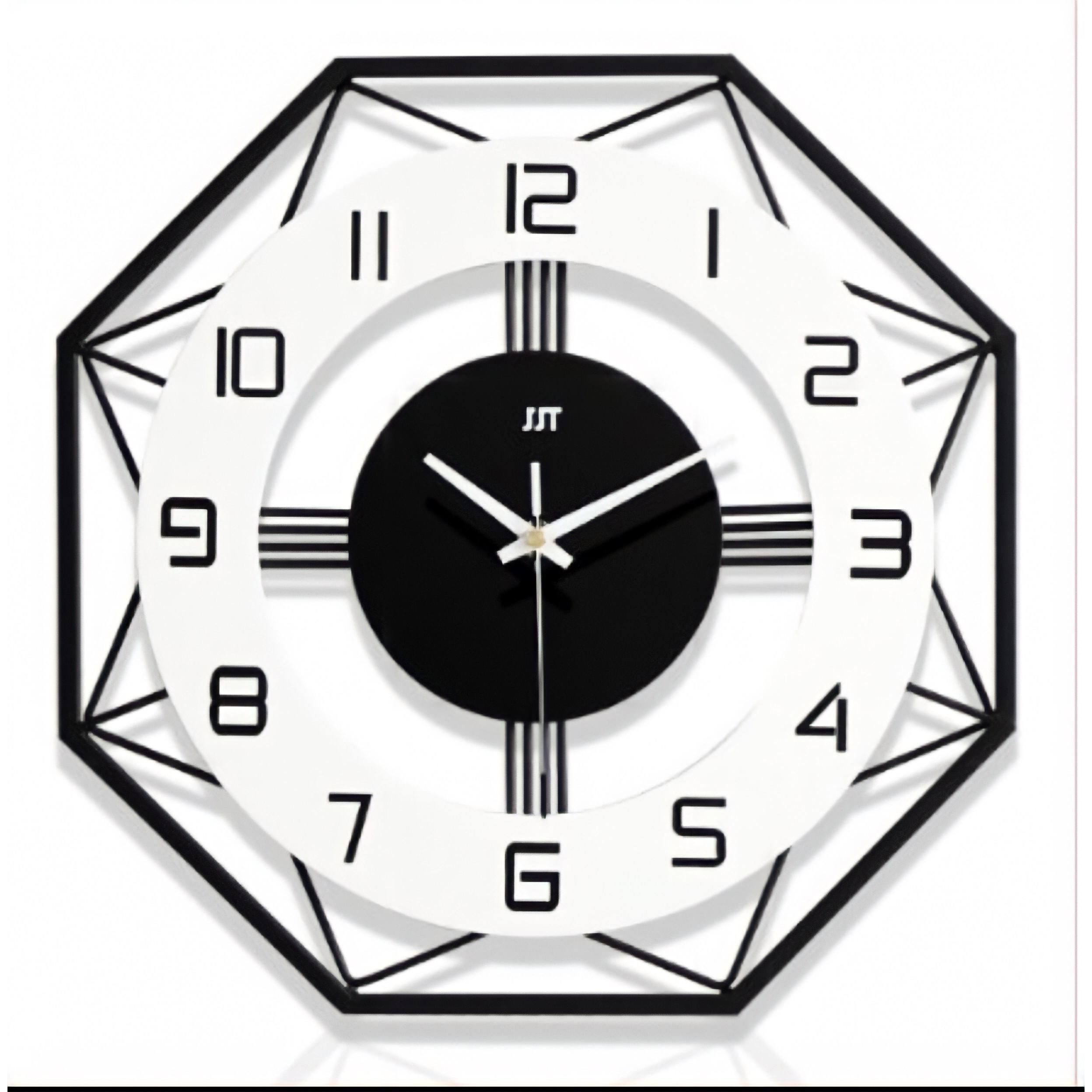 Đồng hồ treo tường trang trí nghệ thuật hình tròn HD18213-L