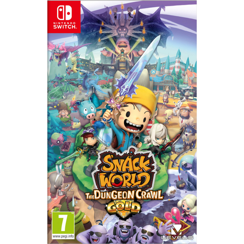 Băng game Nintendo Switch SNACK WORLD: THE DUNGEON CRAWL- GOLD