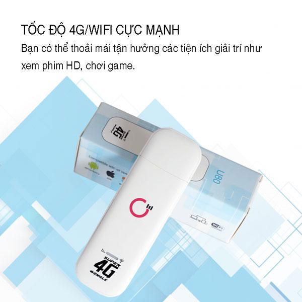 USB Phát Wifi 4G LTE U80 – Tốc Độ 150Mb – Kết Nối 10 User