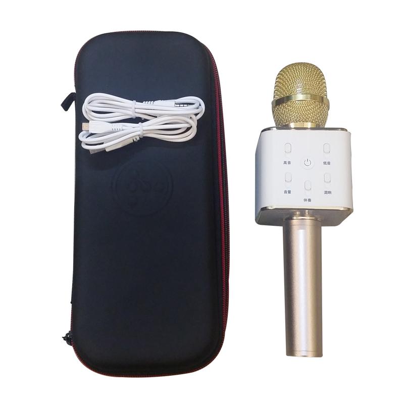 Mic Bluetooth Kèm Loa Q7 Tặng Dắc 3.5 Và Cóc Sạc