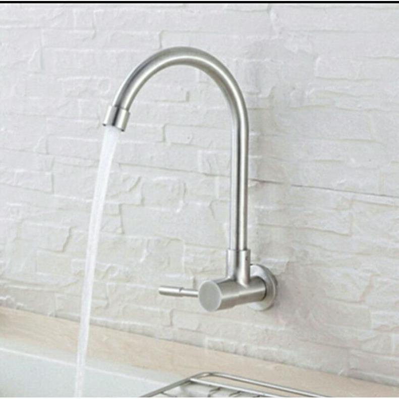 Vòi chén âm âm  tường gắn chậu rửa chén