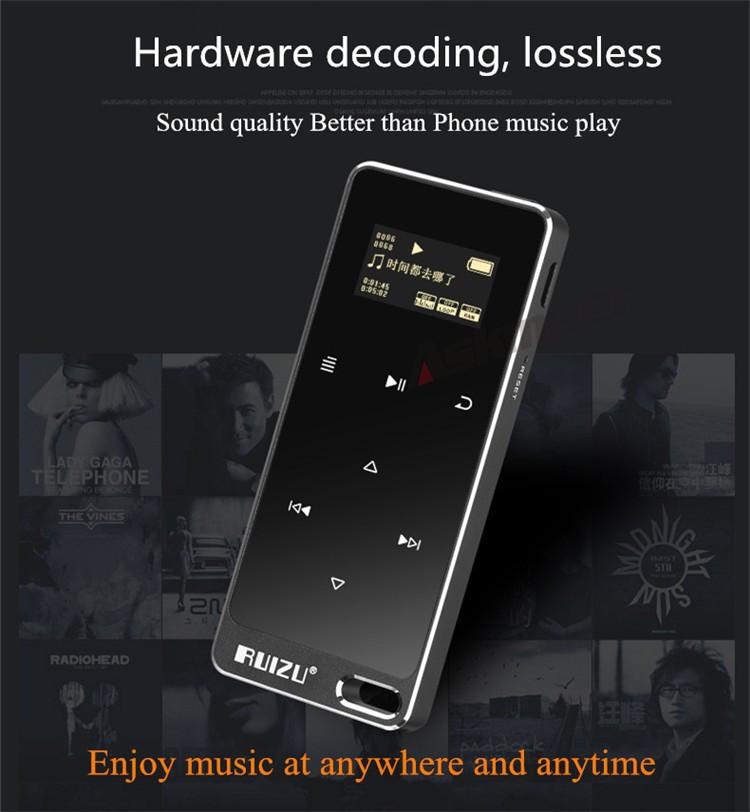 Máy nghe nhạc Lossless Ruizu X05 Bộ Nhớ Trong 8GB AZONE - Hàng Nhập Khẩu
