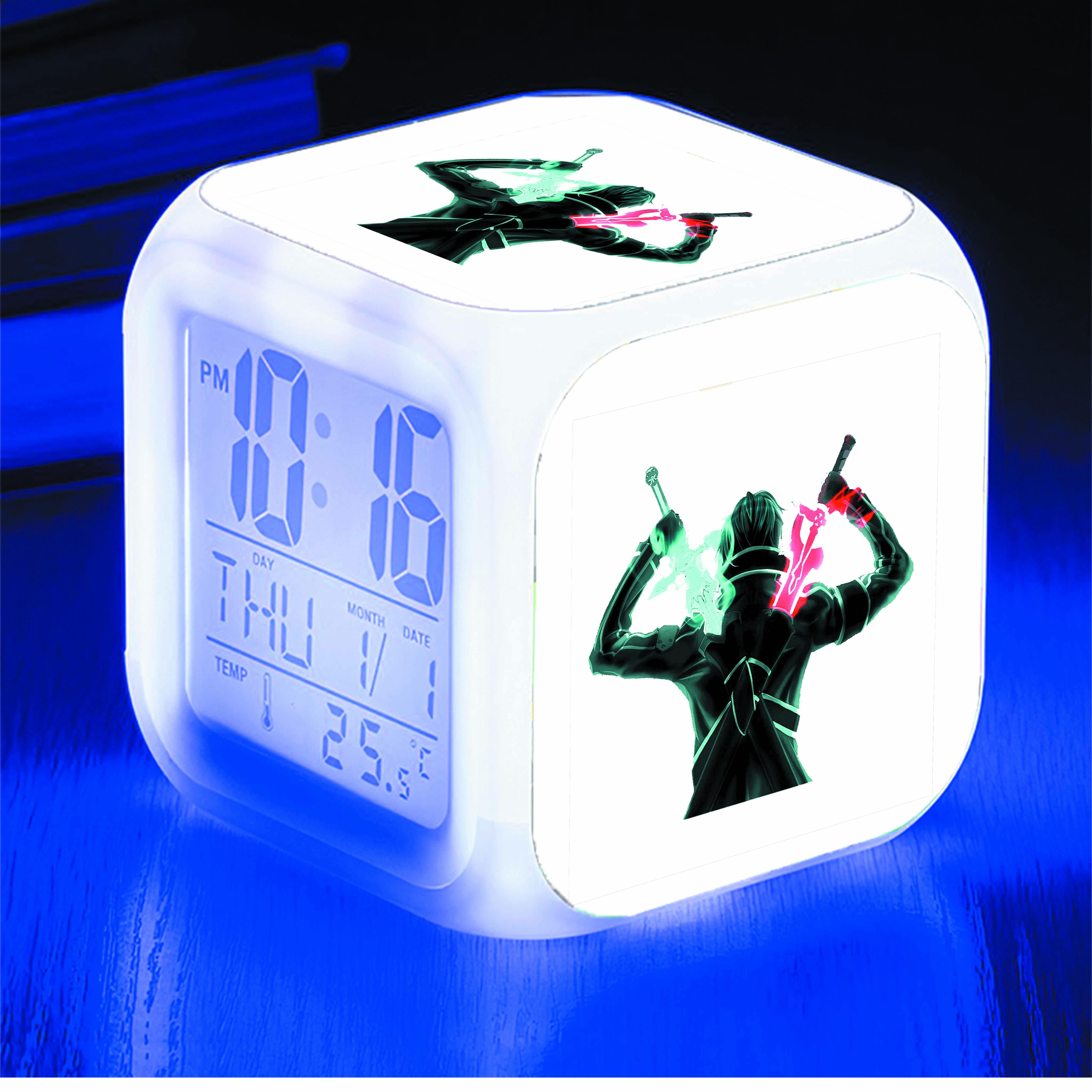 Đồng hồ báo thức để bàn IN HÌNH Sword Art Online - Đao Kiếm Thần Vực anime