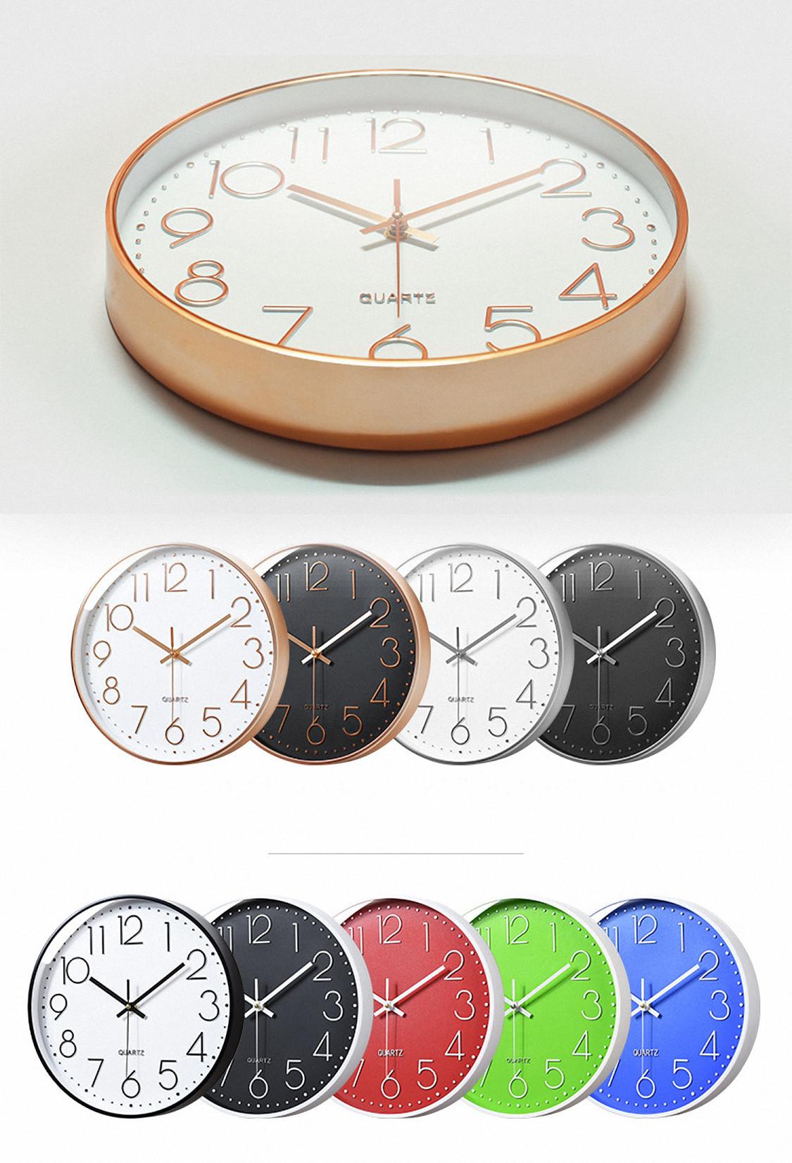 Đồng hồ treo tường kim trôi vỏ kim loại, 20cm, màu đen Dan House – DH02X