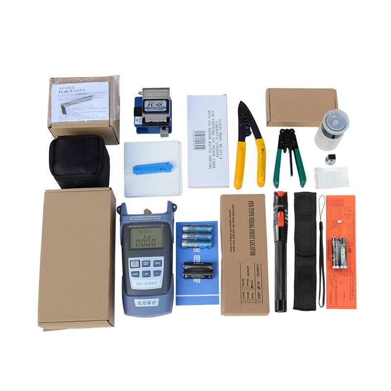 Bộ dụng cụ làm cáp mạng cao cấp gồm: Máy đo công suất quang đa năng HX + Dụng cụ cắt sợi quang FC 6S + Bút soi quang 10km + 2 kìm tuốt quang cao cấp + 1 lọ đựng cồn rửa dụng cụ + Tặng 1 túi đựng bộ dụng cụ siêu gọn