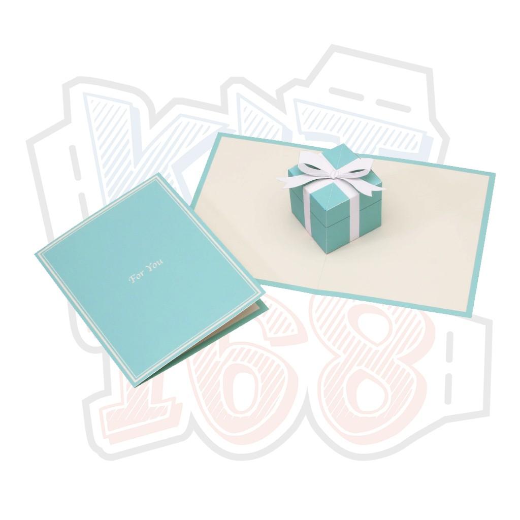 Mô hình giấy Thiệp quà Gift box – Pop-up Card