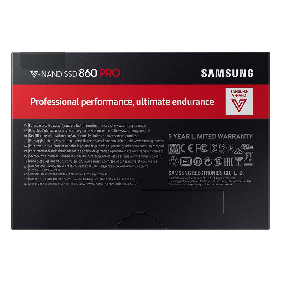 Ổ Cứng SSD Samsung 860PRO 512GB Sata III 2.5inch - Hàng Chính Hãng
