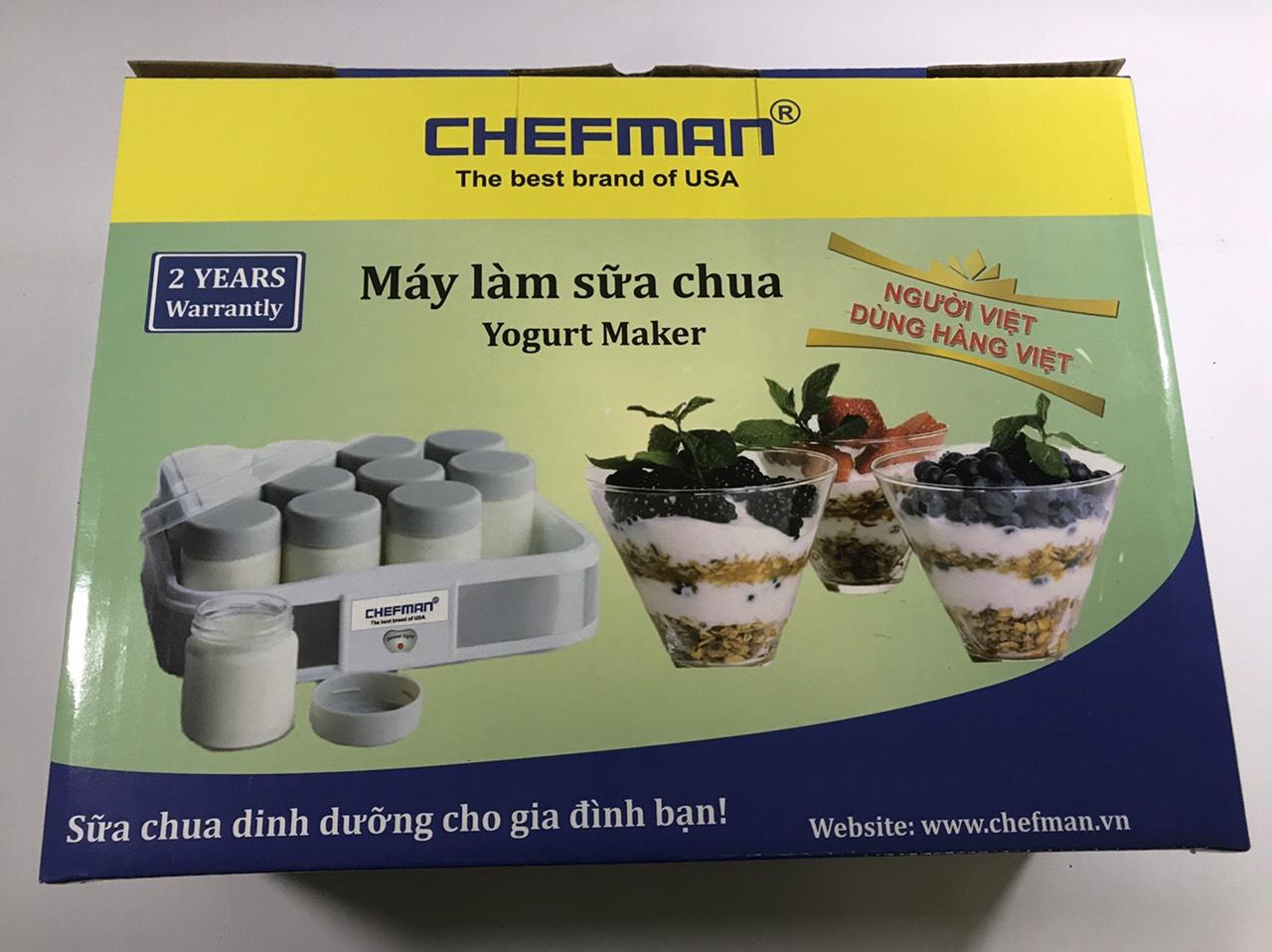 Máy làm sữa chua Chefman CM-311T cao cấp 12 cốc-Hàng chính hãng