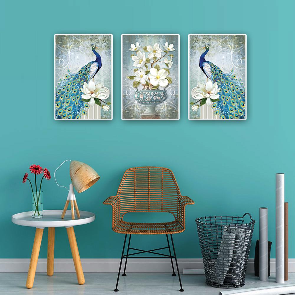 Tranh treo tường – Bộ tranh đôi chinh Công CC171 - Vải canvas kim tuyến cán PiMa - công nghệ in UV  hiện đại - Khung viền composite - bền màu 10 năm.
