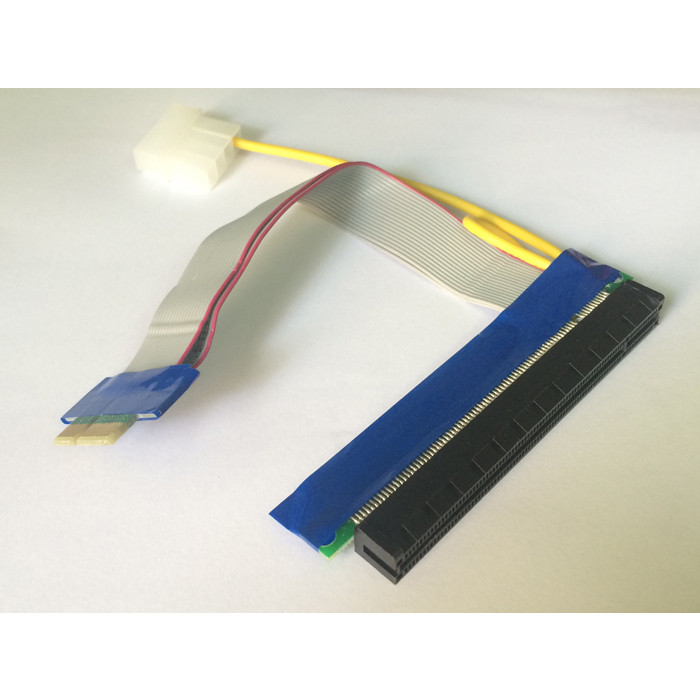 Card chuyển đổi PCIe 1x sang PCIe 16x dài 20cm