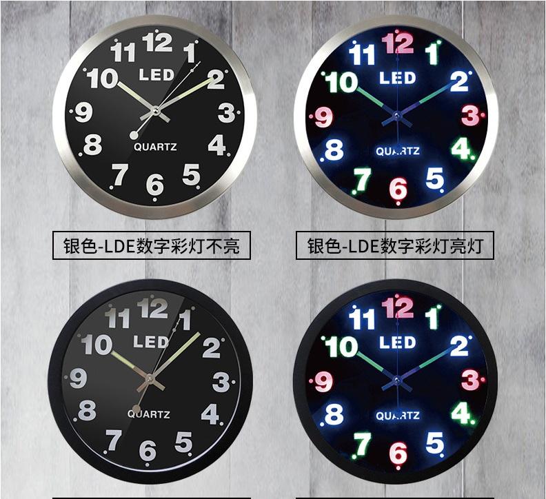 Đồng hồ treo tường Led 3D Thời trang