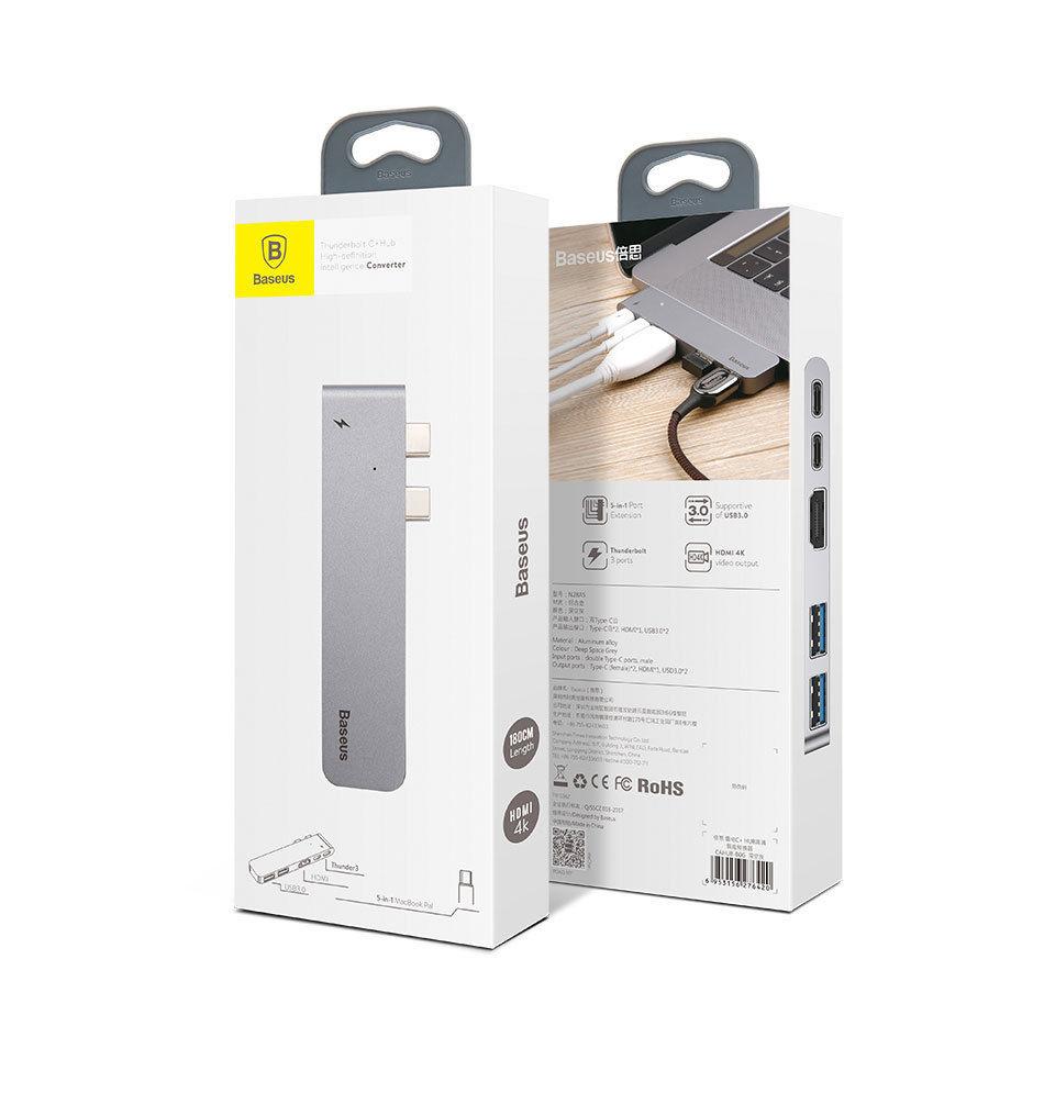 Bộ Hub chuyển đổi 5 trong 1 dành cho Macbook Pro CAHUB-B0G- Hàng chính hãng