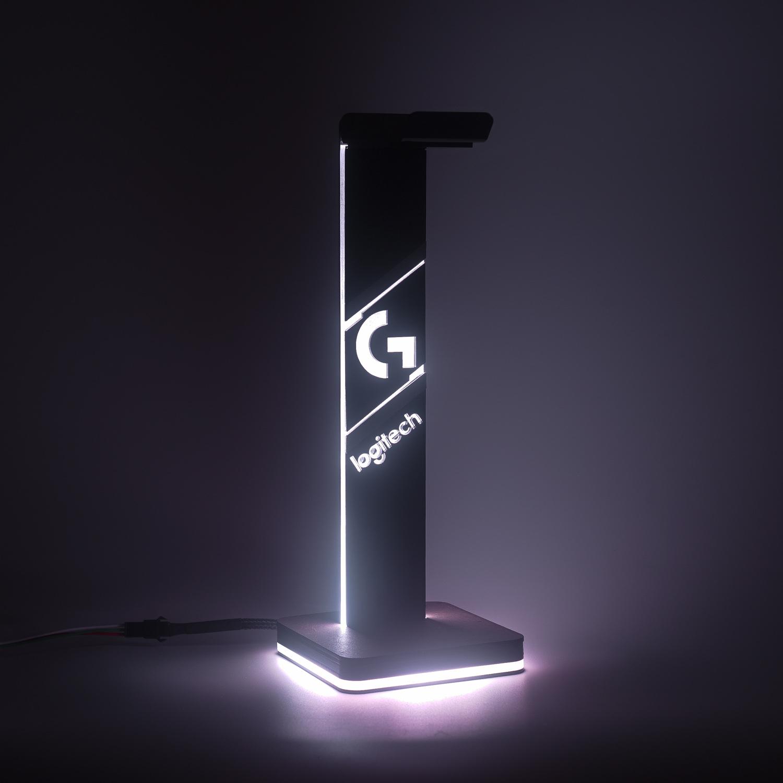 Giá treo tai nghe Logitech Basic LED RGB Custom Handmade