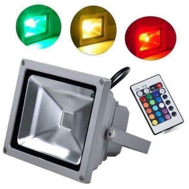 Đèn pha led 10w đổi màu, đèn pha led ánh sáng trắng,pha led ánh sáng vàng, Pha led chiếu điểm, chiếu bảng hiệu