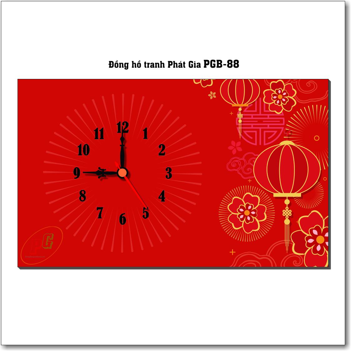 Đồng hồ tranh để bàn PGB-88