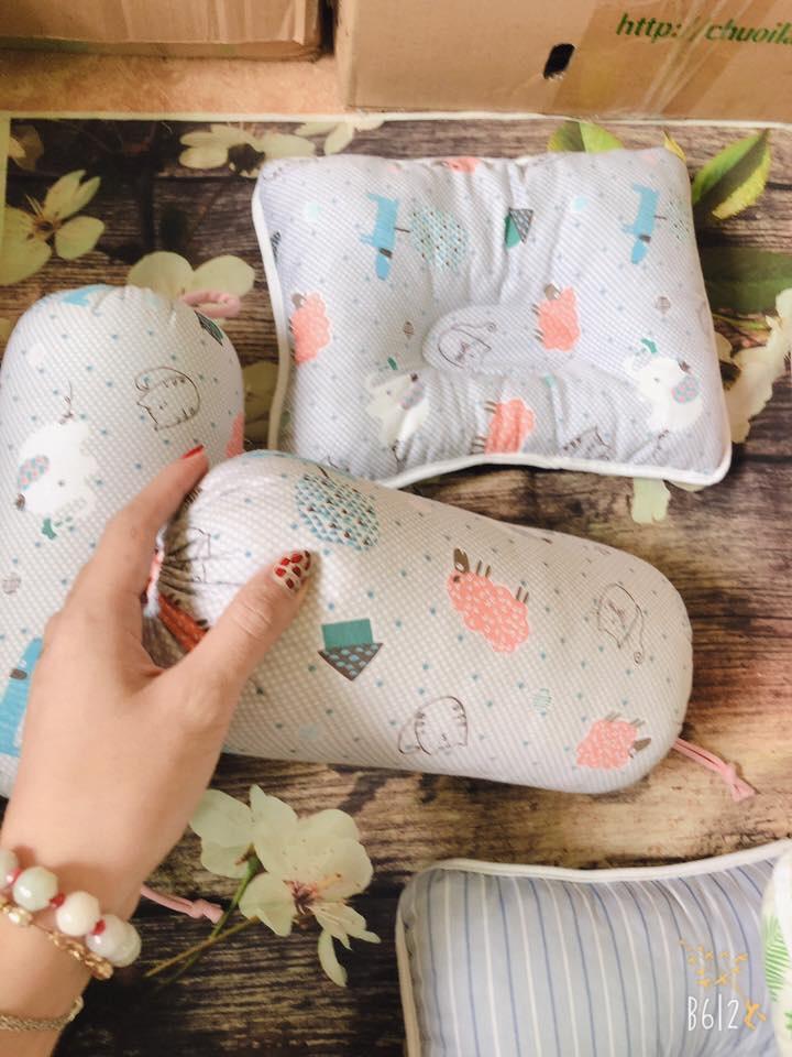 Chặn Gối Cotton Loại Tốt Siêu Mềm Việt Nam Xuất Khẩu (Màu ngẫu nhiên)