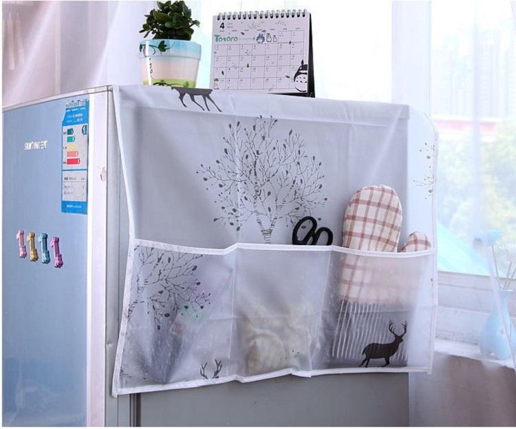 Tấm Trùm, Phủ Tủ Lạnh Hình Hươu Và Rừng Cây Không Thấm Nước