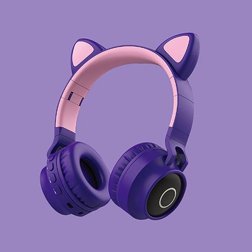 Tai nghe Bluetooth tai mèo đáng yêu có mic đàm thoại cao cấp, tai nghe mèo có đèn phát sáng cute tai nghe tai mèo thời trang, headphone Bluetooth đáng yêu có thể sử dụng khi chơi các tựa game online