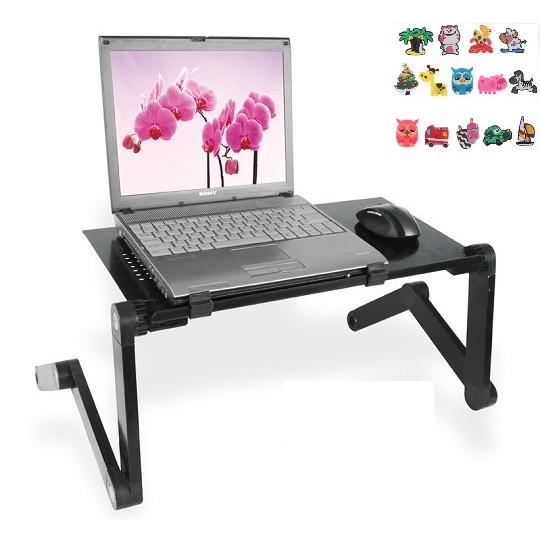 Bàn để laptop đa năng gấp gọn-Bàn để máy tính gấp gọn thông minh chống bị mỏi vai, mỏi mắt 45x30cm+ Tặng kèm hình dán ngẫu nhiên